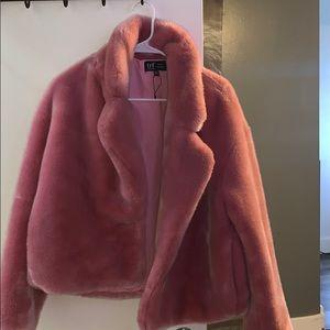 Zara faux coat beautiful pink color